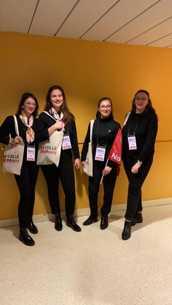 L'équipe InfoNum du Havre, pour le challenge de la Veille, composé de Laura, Mélissande, Aurélie et Agathe